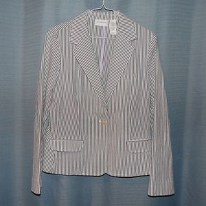 Liz Claiborne Stripped Jacket Size 10